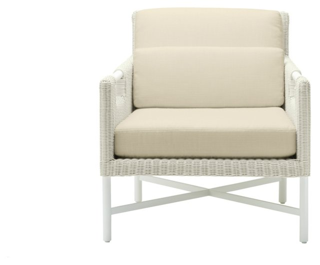 Pheasant Outdoor Chair, Ivory/Oatmeal