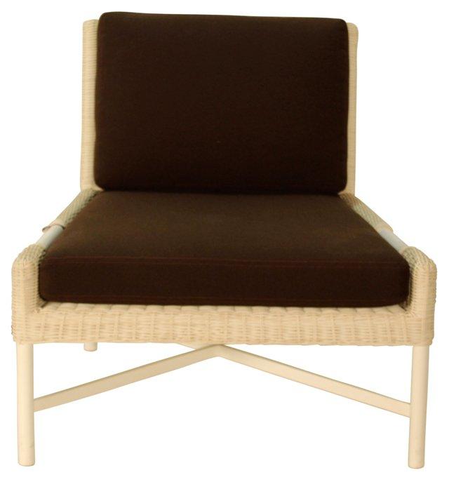 Pheasant Outdoor Slipper Chair, Oat/Choc
