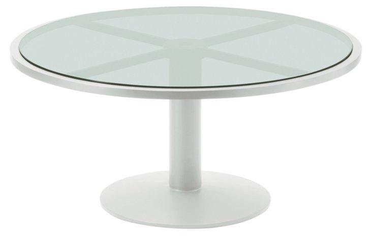 Pheasant Outdoor Pedestal Table, Pewter