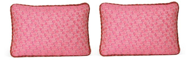 Geometric Jacquard Pillows, Pair