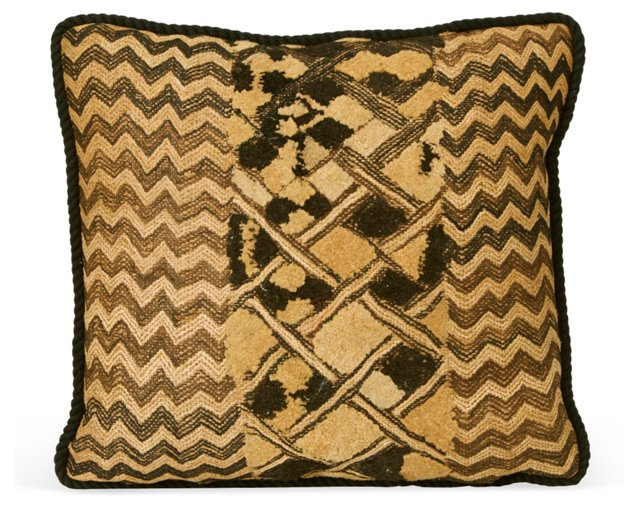 Square African-Textile Pillow