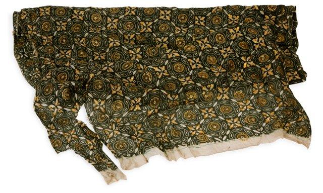 Printed & Embellished Fabric, 3 Yds.
