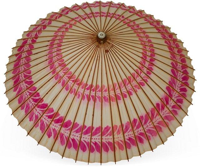 Vintage Japanese Paper Parasol I