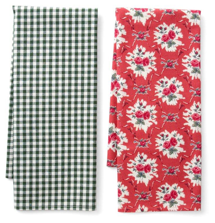 Asst of 2 Josephine Pomme Tea Towels