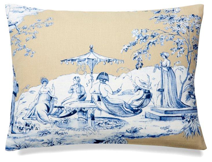 Josephine 12x16 Cotton Pillow, Blue