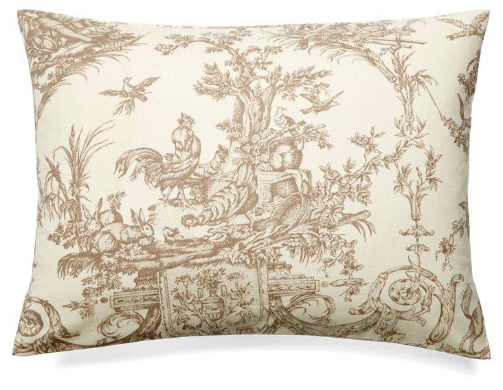 Versailles 12x16 Cotton Pillow, Beige