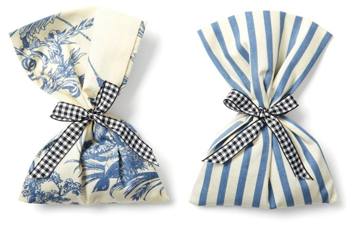 S/2 Lavender Sachets, French Blue