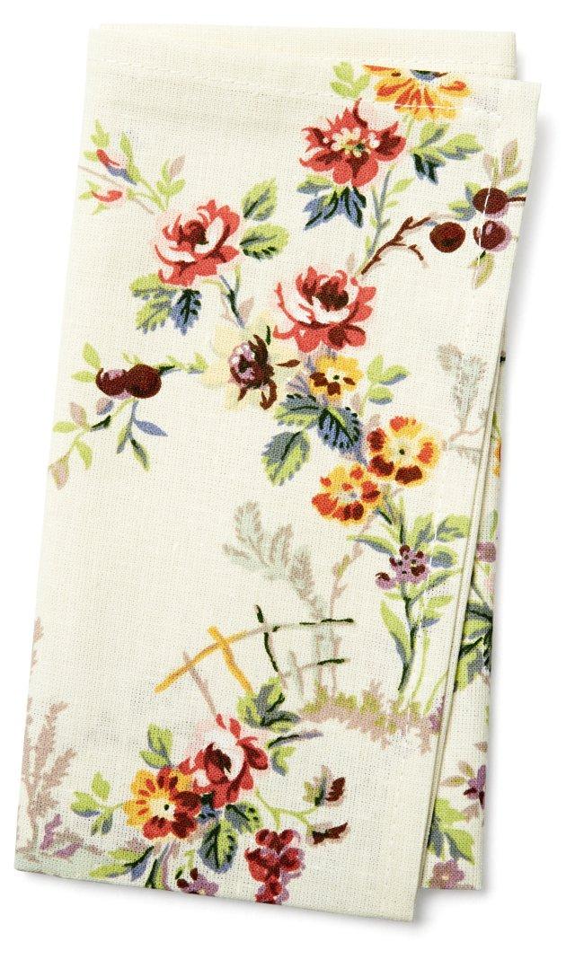 S/4 Limoges Fleurs Napkins