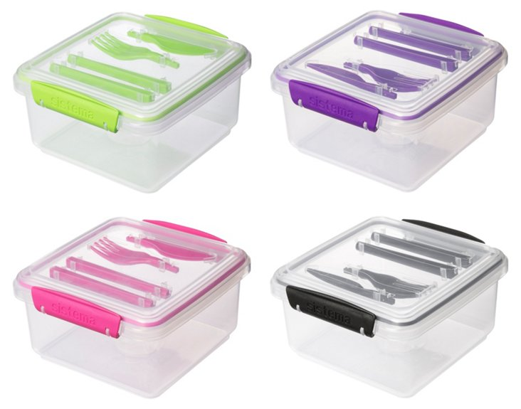 S/4 Assorted Lunch-To-Go Container Sets