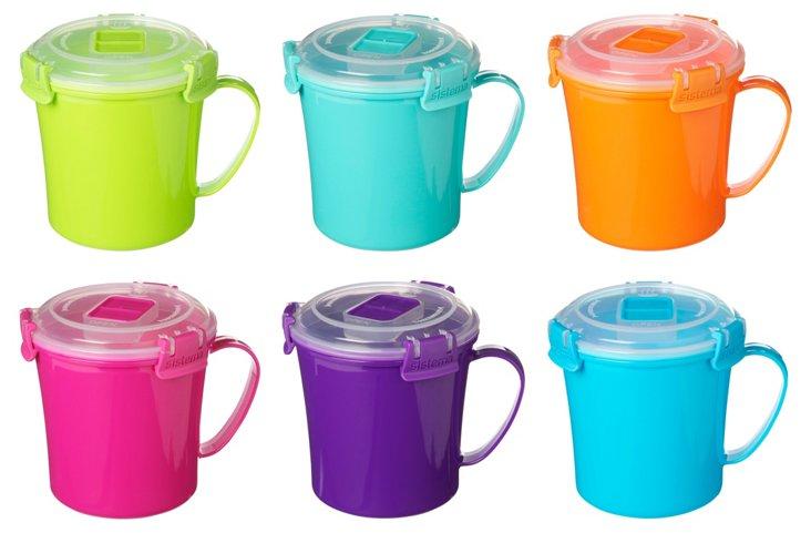 S/6 Assorted To-Go Mugs