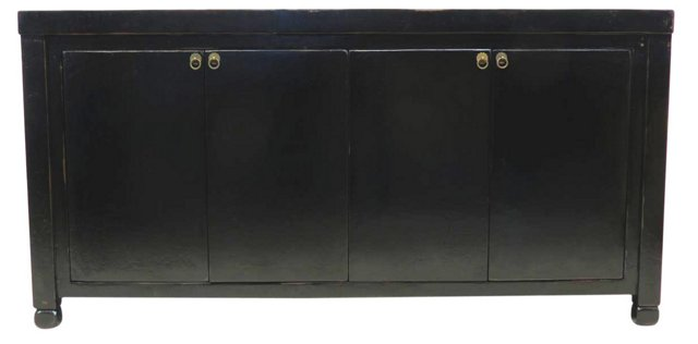 """Willow 79"""" Sideboard, Black"""