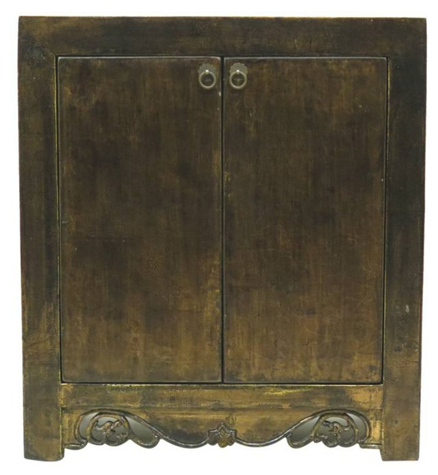 Selma 2-Door Low Cabinet, Gold