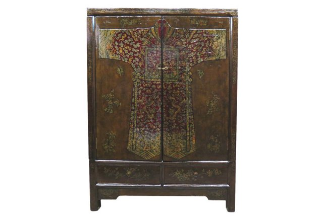 Connor 2-Door Cabinet, Brown