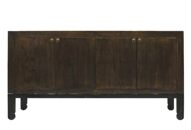 Finley 4-Door Tall Sideboard, Black