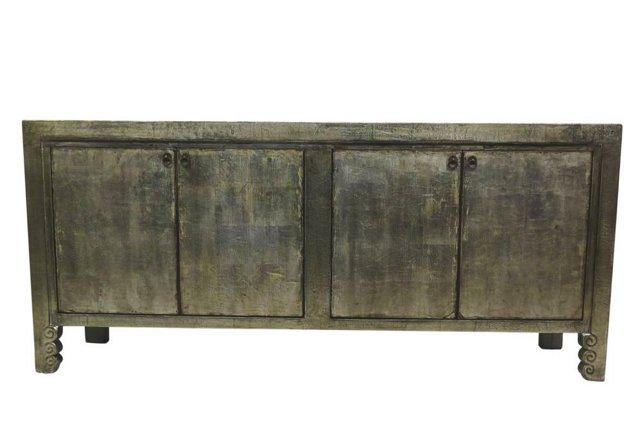 Brady 4-Door Tall Sideboard, Silver
