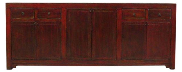 Harper 4-Door Tall Sideboard, Red