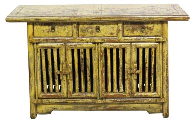 Baird 3-Drawer Sideboard, Yellow