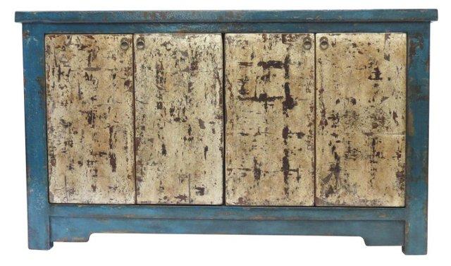 Metallic Sideboard, Blue/Silver