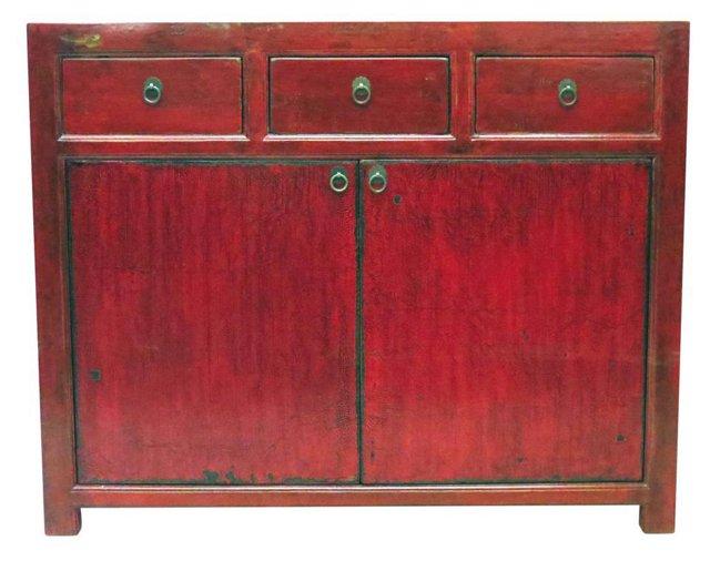 2-Door Low Cabinet, Red