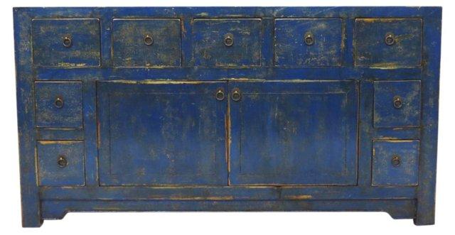 Calix Tall Sideboard, Blue