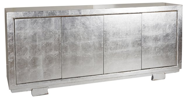 """Theon 80"""" Sideboard, Silver"""