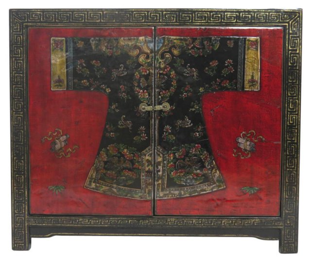 Bai Cabinet, Black/Red