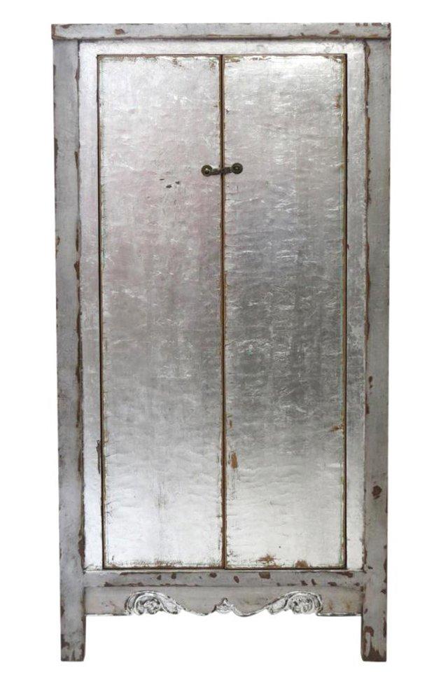 Nanchong 2-Door Tall Cabinet, Silver