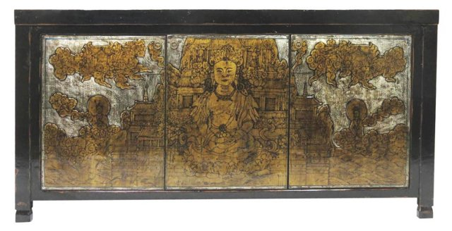 Aziza 3-Door Sideboard, Black/Gold