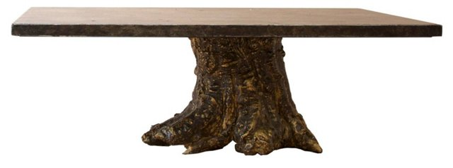 Lenwood Coffee Table, Rustic Gold