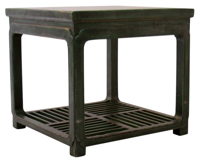Sheila Square Side Table, Green