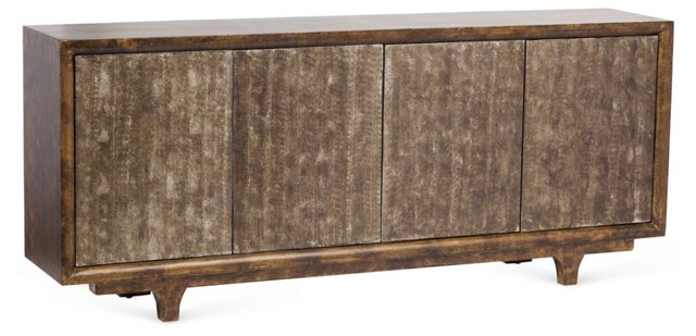 Tess Tall Sideboard, Graphite/Gold