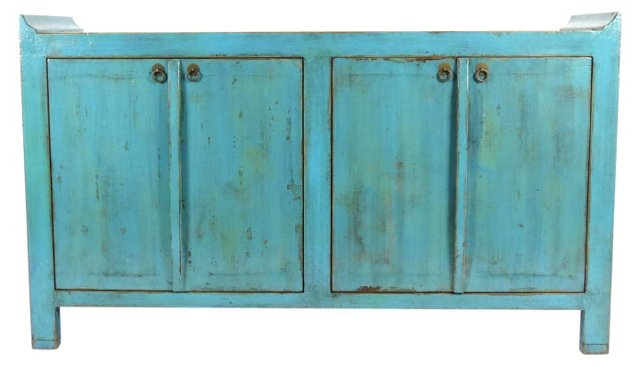 DUPGabriel Tall Sideboard, Turquoise