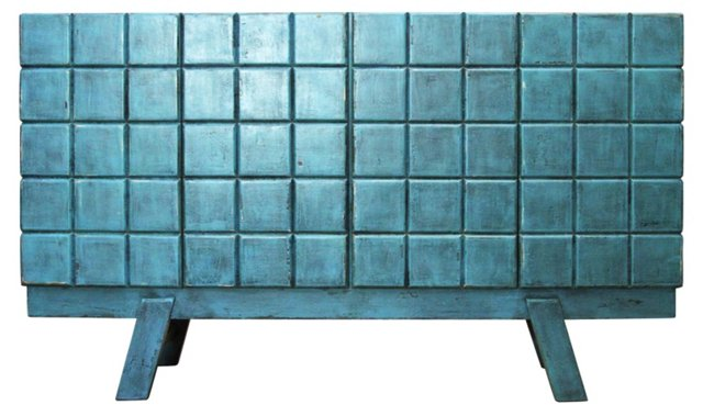 Ceto Tall Sideboard, Turquoise
