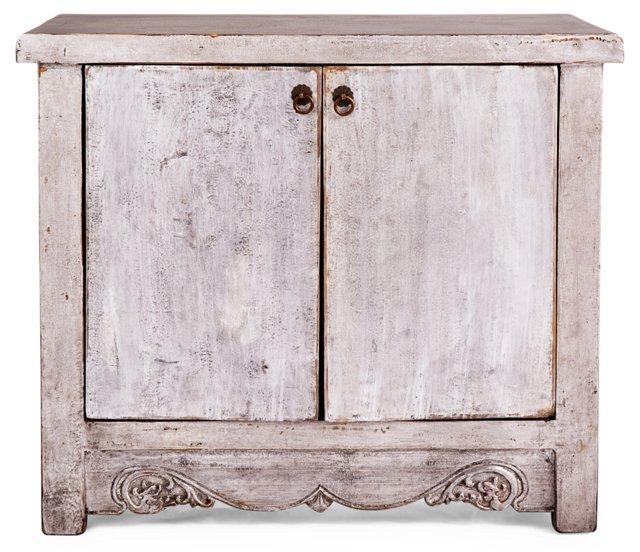 """Wells 35"""" Storage Cabinet, Silver"""