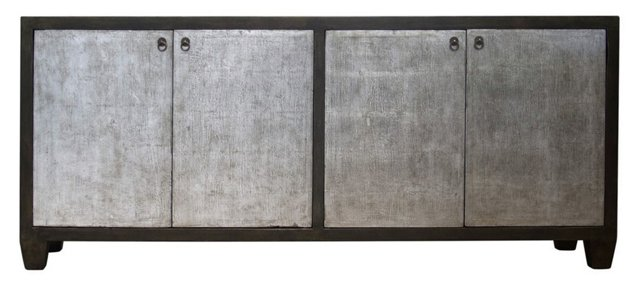 "Fiona 81"" Sideboard, Silver/Gray"