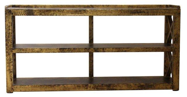 "Linus 67"" Display Shelf, Gold"