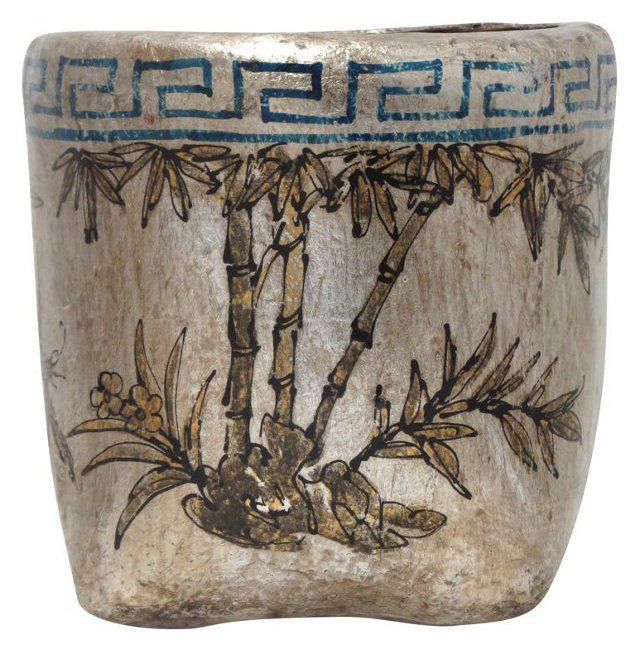 Palm Mung Bean Basket, Silver