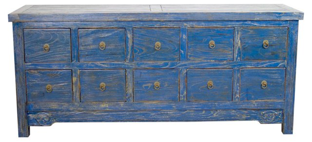 Hester 10-Drawer Low Sideboard