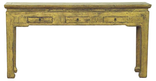"""Riley 63"""" Console Table, Gold"""