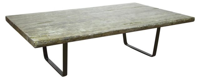 "Jack 64"" Rustic Coffee Table, Gray"