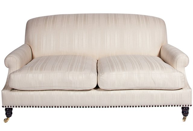 Clarence House Ivory Linen Sofa