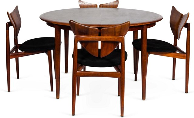 Kurt Ostervig Dining Table & 4 Chairs