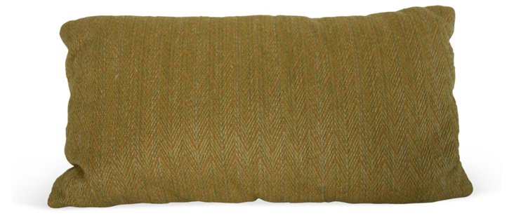 Clarence House Chartreuse Chevron Pillow