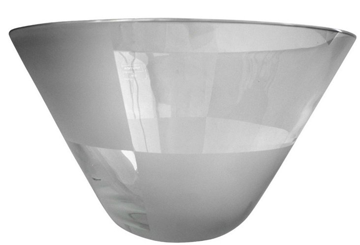 Nautica Frosted Glass Serving Bowl