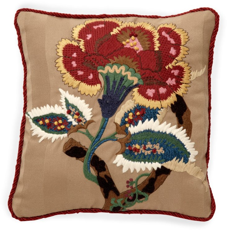 Custom Embroidered Accent Pillow