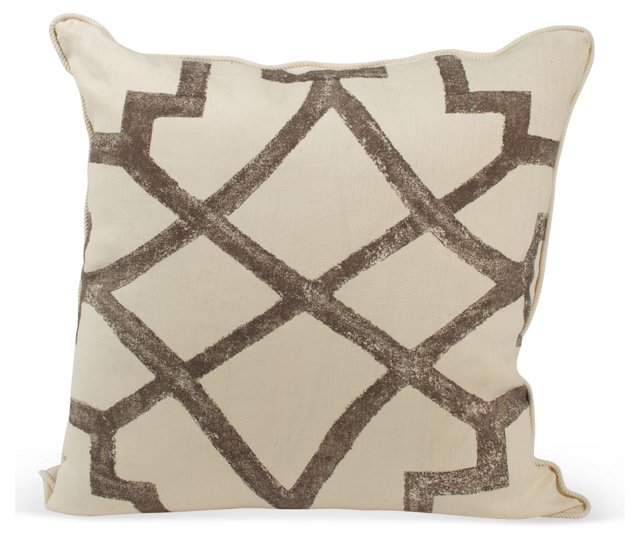 Michael Devine Fretwork Pillow