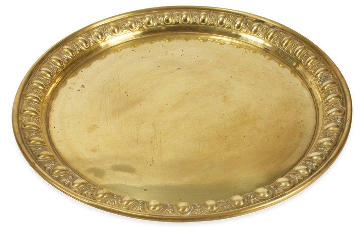Round Brass Tray