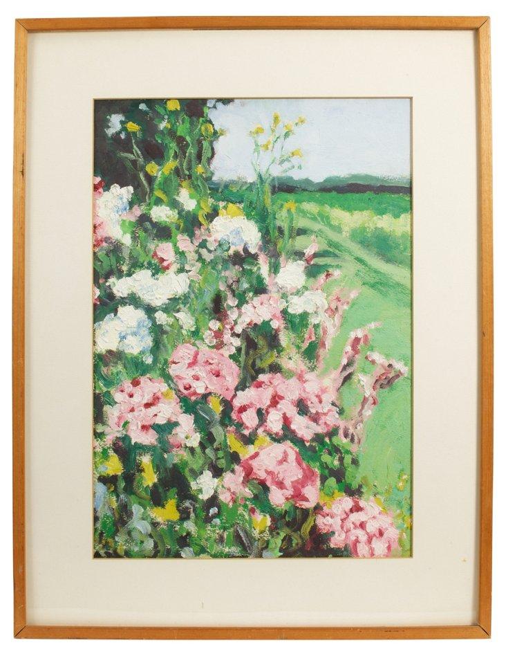 Floral Garden Acrylic Garden Painting