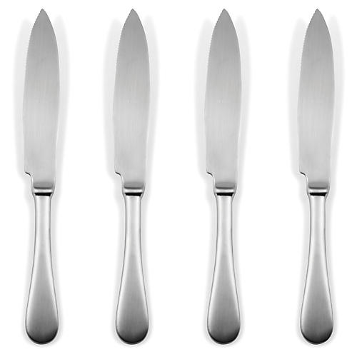 S/4 American Steak Knives, Ice