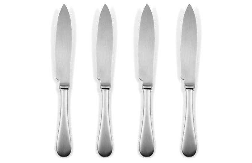 S/4 American Steak Knives, Ice